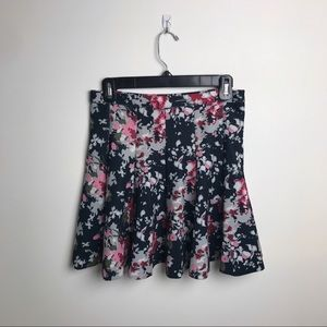 Abercrombie & Fitch black floral skirt, size M